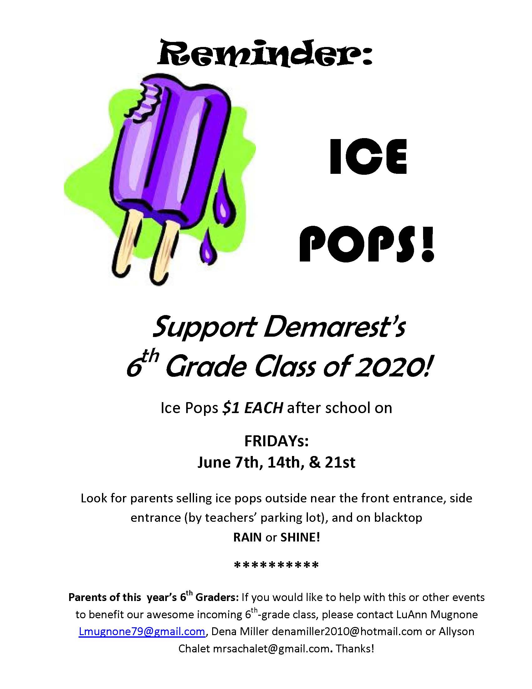 Support the 6th Graders of 2020 – Demarest Home and School Association